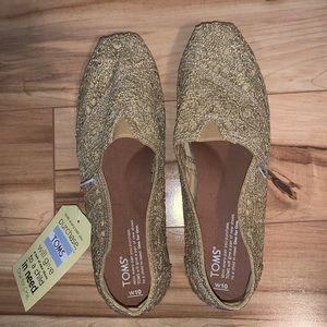 Toms Shoes - Gold Lace Toms